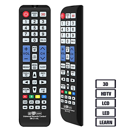 Alkia Universal Remote Control for Almost All Samsung Brand LCD LED HD Smart TV, AA59-00666A BN59-01178W BN59-01199F AA59-00638A AA59-00637A AA59-00594A AA59-00600A AA59-00582A (SM-21+AL)