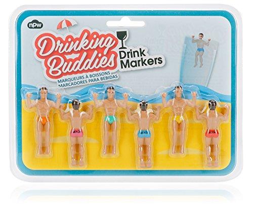 npw-usa Buddies Wasser in Wein trinken Jesus Cocktail Drink Marker (Set von 4)