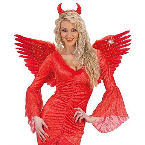 Teufel Flügel Rote Engelsflügel 86x42 cm Glitzer Federflügel Fallen Angel Wings Teufelsflügel Halloween Kostüm (Angel Wings Fallen)