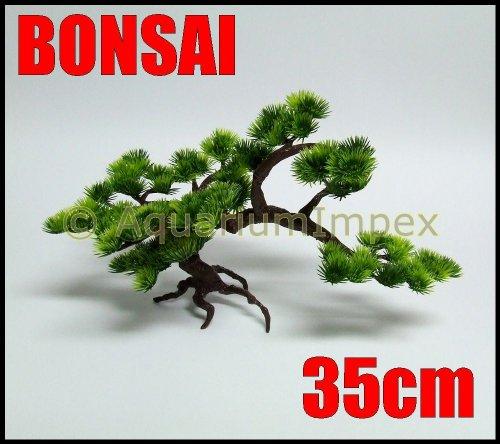 Wasserpflanzen Kunststoff BONSAI Baum für NANO Aquarium Terrarium Pflanze 18302 35cm
