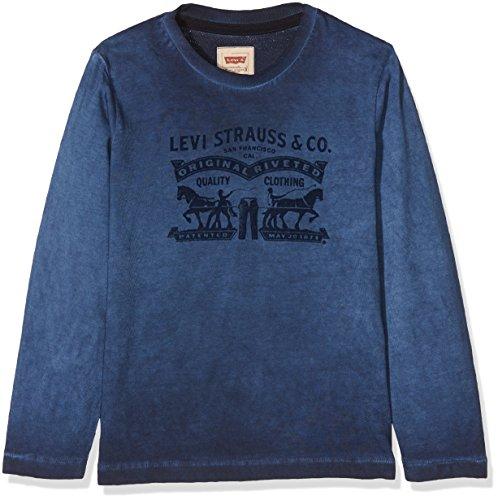 Levi's t-shirt, maglietta a maniche lunghe bambino, blue (dark blue), 14 anni