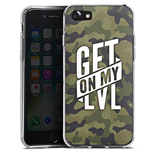Apple iPhone 7 Silikon Hülle Case Schutzhülle Montanablack Fanartikel Merchandise Get On My Level Camo Silikon Case transparent