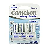 Camelion 17423406 Always Ready Akku (NiMH, R6, AA, 2300 mAh, 4er)