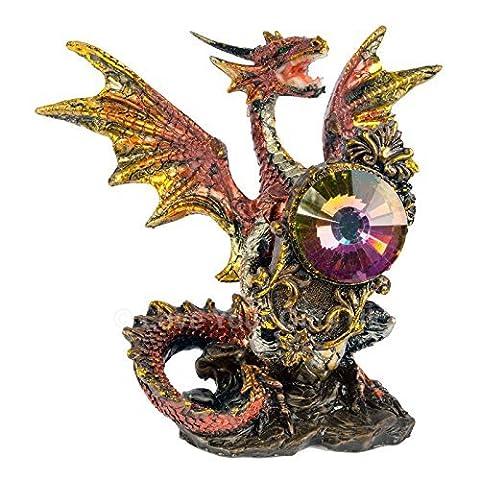 Dragon Orange-Figurine Ange Gardien