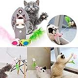 Juguete de plástico con diseño de Gato genérico Interactivo con diseño de pájaros