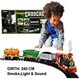 KIDSZONE Train Set with Engine Emitting Smoke Light and Music(on Sale Now)