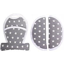 Cinturón acolchado protector de cinturón con paso acolchado para Maxi-Cosi Cabriofix y Citi - Gris con estrellas