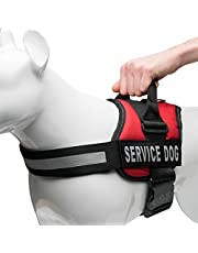 PetsUp Service Dog Harness, Chest Body Belt for Dogs (30-39-inch Girth, Red)