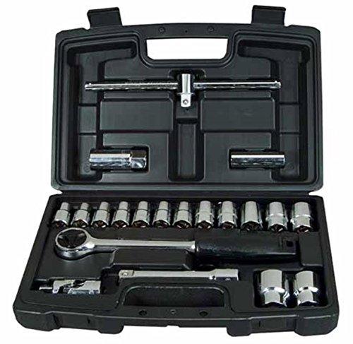 Stanley Steckschlüssel-Set (1/2 Zoll 20-teilig, Umschaltknarre mit Selbstauslösung, Steckschlüssel 10-27 mm) 1-94-650