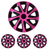 """Radkappen Radblenden Radzierblenden Draco Pink 16 Zoll 16"""" R16 universal passend für fast alle Fahrzeuge mit Standardstahlfelgen z.B. Peugeot"""