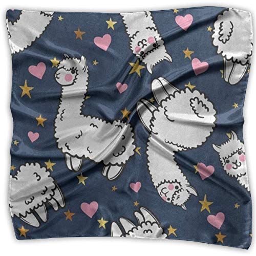Rghkjlp Girl's Silk Scarf 3D Clock Floating Space Moving Printed Square Scarf Sunscreen Shawls (Beanie Mit Pom Galaxy)