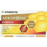 Arkopharma Arko Royal Produits de la Ruche Dynergie Ginseng + Gelée Royale + Propolis 20 Ampoules 15 ml