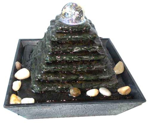 Fontana Zen Feng Shui in Poliresina Piramide
