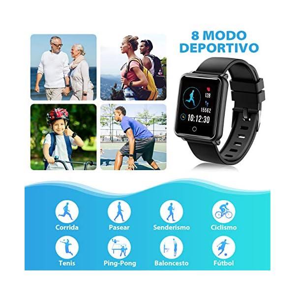Seneo Reloj Inteligente Hombre, Reloj de Seguimiento de Actividad, Podómetro Deportivo con Monitor de Ritmo Cardíaco Monitor de Sueño para Teléfonos Inteligentes Android o iOS 3