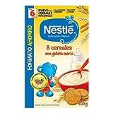 NESTLÉ Papilla 8 cereales con Galleta María - Alimento para Bebés