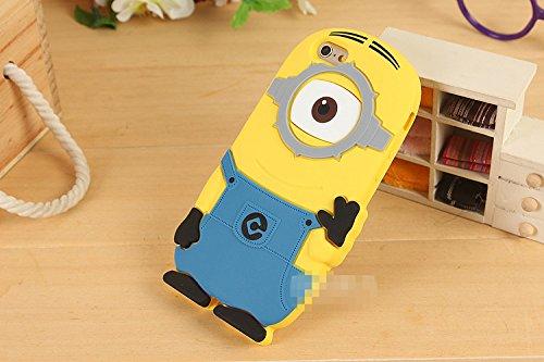 Moi Moche Et Méchant Minion Despicable Me Coque de protection Silicone Case pour Apple iPhone 6plus / 6splus(5.5)---(la lumière monoculaire bleu)