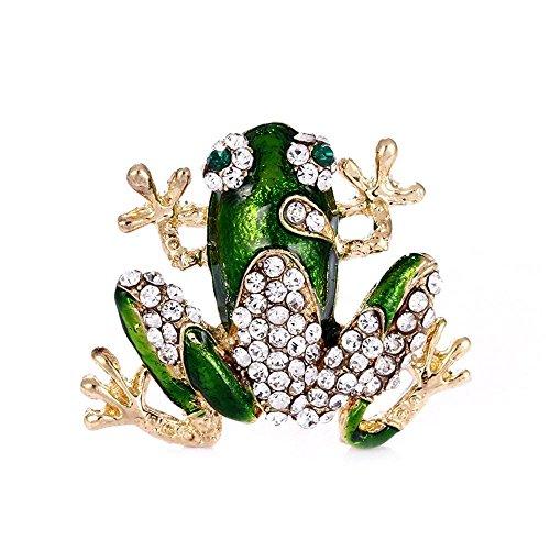 ay Diamond Frosch Brosche Tier Brosche Pin Schal (Männliche Tier Kostüme)