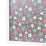 MiodpeCfqla Milchglas Muster privatsph?re Fensterfolie,Undurchsichtige Anti-UV-Hitze Steuerung Selbstklebende dekorglas Film für Wohnzimmer & Bad-E W60xL300cm(24x118inch)