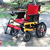 DLY Anziani Disabili Spinta a Mano Elettrica Pieghevole Intelligente Multifunzionale a Mano/Elettrica (Batteria agli Ioni di Litio) per Sedia a Rotelle Elettrica per Anziani Disabili