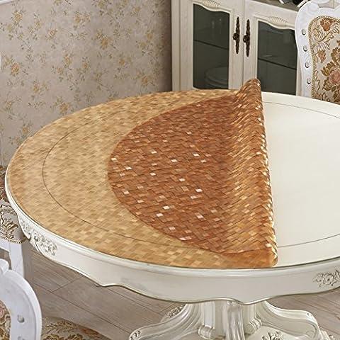 pvc Ronda mantel/ impermeable mesa redonda/ color helado mesa de centro cojines/Mantel de vinilo de prueba de aceite caliente-K diámetro70cm(28inch)