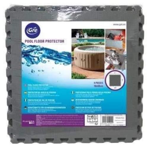 Gre MPF509GY - Bodenschutz für Pools, 9 Einheiten Grau, 8 mm dick