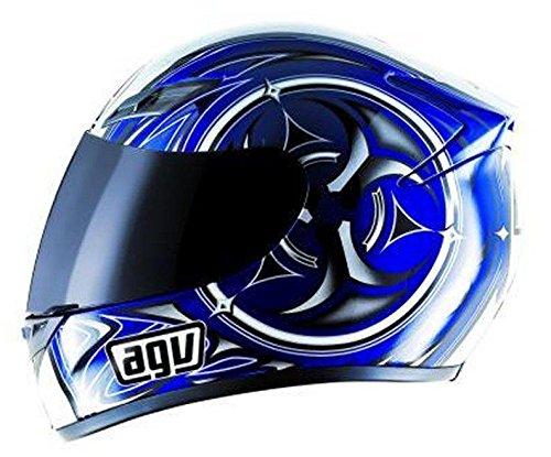 AGV - Casco da motociclismo integrale K4 Vyrus, misura Small, colore: blu e argento