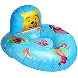 alles-meine.de GmbH Luftkissen mit Rückenlehne -  Disney Winnie Pooh  - Sitz - 60 cm Durchmesser - Kissen Lehne aufblasbar Matratze - Luftmatratze - aufblasbares Sitzkissen - Puuh Teddy Bär