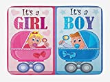 Best Loofahs Bath - Icndpshorts Gender Reveal Bath Mat, Girl and Boy Review