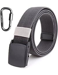 FEIKCOR Cinturones de nylon para hombre Cinturón - Cinturón de tela de  níquel casual ajustable de a81e0ec53bcb