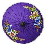 wifash Sonnenschirm Asiaschirm Chinaschirm Dekoschirm 25 cm Dunkellila