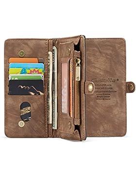 KelaSip Funda de Cuero para iPhone 6/6S/7/8, Billetera de iPhone 6 Plus/7 Plus/8 Plus[Función de Soporte][Ranuras...