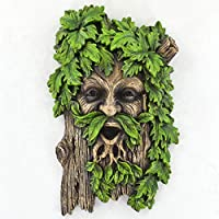 Fiesta Studios Merlin the Tree Ent Face Plaque for Garden Home Wicca Celtic Pagan Magic Greenman H18cm