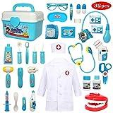 Buyger 32 Piezas Juguete de Doctora Enfermera Disfraz Cosplay de...