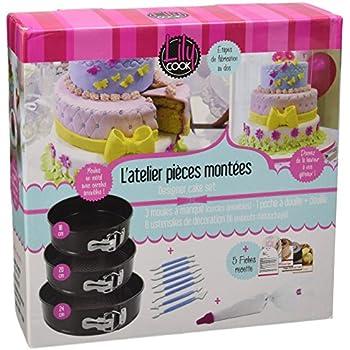 Lily Cook KDO8561 Coffret Cake Designer, Métal 18 cm, 20 cm et 24 cm
