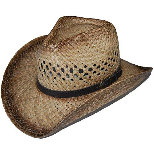 (Cowboyhut Westernhut Cowboy Western Hut Sommerhut Strohhut Straw Stroh Sonnenhut)