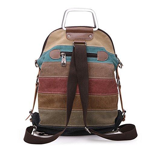 Diagonal-Paket/Umhängetasche/Retro-Streifen Farbenpaket/Canvas Tasche/Doppelte Umhängetasche/Geschleudert Taschen/Weitere Pakete-A A
