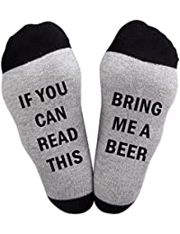 Best Gift Funny Causal Socks Christmas Socks If you can read wine socks Christmas Gift for Lover,friends, Mom and father this Cotton Xmas socks…