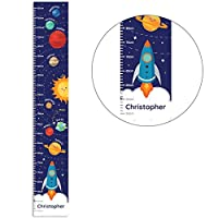 Kiddiewinkle Gifts Personalised Boys Height Chart - Solar System Growth Chart for Boys, Educational Wall Poster, Childrens Height Chart, Boys Bedroom Accessories, Space Themed Presents