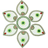 Anjali Handicrafts Acrylic Kundan Art Rangoli (18 Cm X 3 Cm X 15 Cm, Green)
