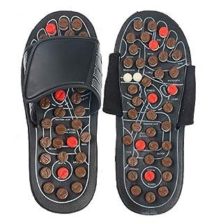 YaeKoo Massage Slippers Fußmassagegerät Massage Schuhe Fußreflexzonen Akkupressur für Fußpflege Entspannung L- für Mann (8,5-9,5)/Frauen(10-11)