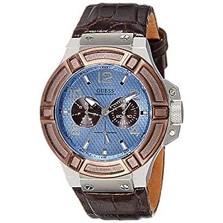 Guess Reloj analogico para Hombre de Cuarzo con Correa en Piel W0040G10