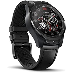 TicWatch Pro Reloj inteligente Bluetooth con Doble pantalla y Sistema operativo compatible con IOS y Android (Wear 0S) , Google Assistant, Compatible con Android 4.4+ Samsung, Huawei, Sony, Motorola, LG, HTC and iOS 9.3+ Apple iPhone (Negro)