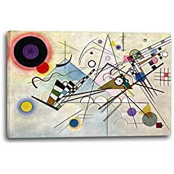 Printed Paintings Leinwand (120x80cm): Wassily Kandinsky - Komposition 8 (1923)
