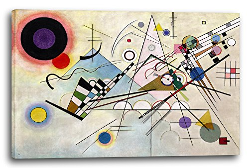 Printed Paintings Leinwand (120x80cm): Wassily Kandinsky - Komposition 8 (1923) -