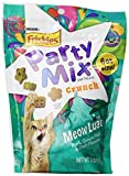Purina, Friskies, Party Mix Cat Treats, Meow Luau Crunch (Pork, Ocean Fish & Crab Flavors), 6oz Pouch (Pack of 4) by Purina