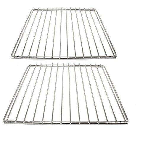 cookspace® Fijo universal ajustable de cromo brazo parrilla estante para todas las marcas de horno cocina & Grill (2unidades, 320mm x 360/620mm)