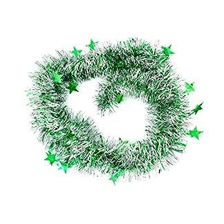 Cosanter Cinta de Navidad de Navidad Cintas para Decorativas árbol Navidad Boda Partido Cinta Guirnalda Adornos de Navidad 200cm, 1PCS (Verde)