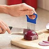 Bayram® Leicht Zwiebelhalter Slicer Gemüse Werkzeuge Cutter Edelstahl KüchebBG YR