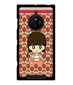 Fuson 2D Printed Girly Designer back case cover for Nokia Lumia 830 - D4323