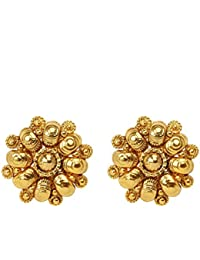Dancing Girl 1 Gm Gold Golden Metal Alloy Stud Earring For Women Girls